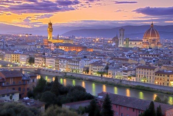 Флоренция расположенная у подножия